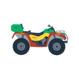 Fototapety Atv moto isolated on white background. Motor cross bike vector.