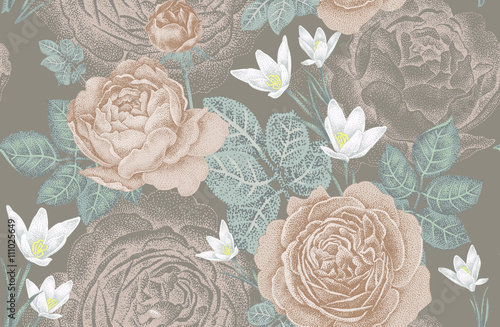Floral seamless pattern. - 111025649