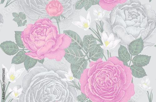 Floral seamless pattern. - 111025665