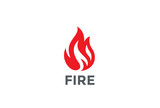 Fire Flame Logo design vector. Bonfire Silhouette Logotype icon - 111034828