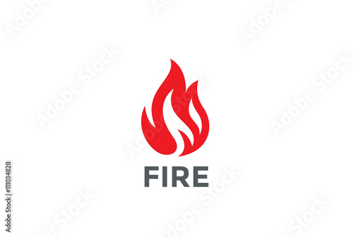 Fire Flame Logo design vector. Bonfire Silhouette Logotype icon