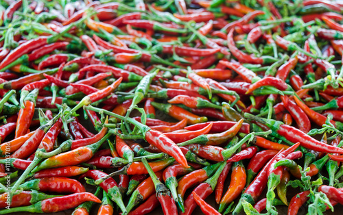 Staande foto Hot chili peppers Red hot chili background