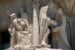 Close-up of a sculpture at Gaudi's Sagrada Familia Cathedral