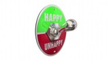 Happy Vs Unhappy Sad Toggle Switch Turn On Mood Feelings 3d Animation
