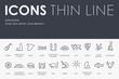 Barcelona Thin Line Icons