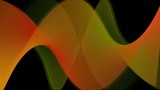 Abstract moving orange and green curly pattern
