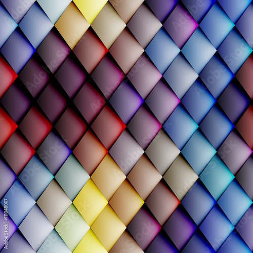 obraz PCV Abstract seamless rhombus pattern.