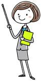 イラスト素材:ビジネス スーツの女性 説明