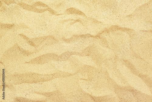 Odgórny widok kolor żółty plaży piaska tekstura, wakacje letni tło