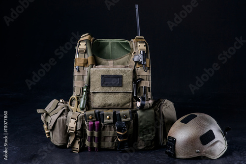 Poster Body armor covers, bulletproof vest/Bulletproof vest,helmet and other military e