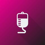 White Transfusion icon on pink background