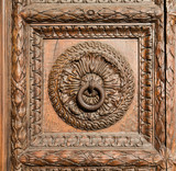 Old Hand Carved Door Panel