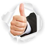 Daumen hoch als Business Symbol