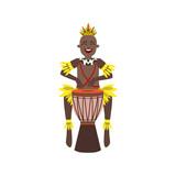 Black Man In Indigenous Brazilian Costume - 111093646