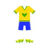 Brazilian Soccer Player Uniform
