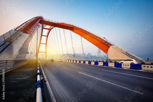 Foto op Aluminium Nacht snelweg traffic in yangtse river bridge,chongqing china.