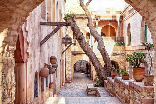 In der Medina der afrikanischen Hafenstadt Agadir in Marokko mit vielen Sehenswürdigkeiten und prachtvollem Baustil