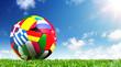 Ball On Grass In The Stadium - European Football Championship