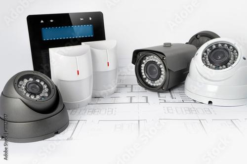 Alarm system - kamery - manipulator
