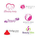 set of vector logos beauty salon,logos vector set design