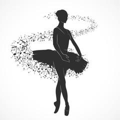 silhouette danseuse vecteur