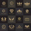 Luxury logo set,Best selected collection,Hotel logo,crest logo set,boutique logo,fashion logo, premium logo design.Vector logo Template