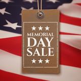 Memorial Day sale background.