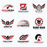 Automotive logo set,auto set,car services logo collection,excavator logo,Vector logo collection
