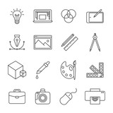 Fototapety Graphic Design icons
