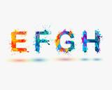 Fototapety Alphabet. Letters E, F, G, H. Part 2