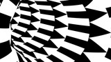 Data Transfer Concept - Travelling through Tunnel with Black and White Arrows - HD Loop Animation