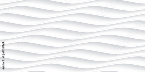 White panel wavy seamless texture - 111181249