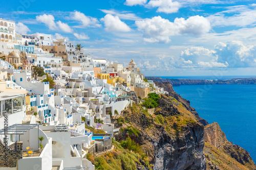 Zdjęcia na płótnie, fototapety na wymiar, obrazy na ścianę : Landscape Santorini Island, Fira, Cyclades, Greece