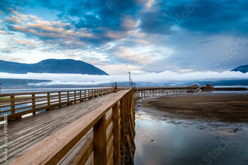 Aluminium Pier Salmon Arm Wharf in British Columbia, Canada