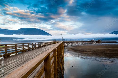 Plexiglas Pier Salmon Arm Wharf in British Columbia, Canada