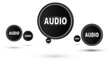 "Jumping ""AUDIO"" icons. Looping."