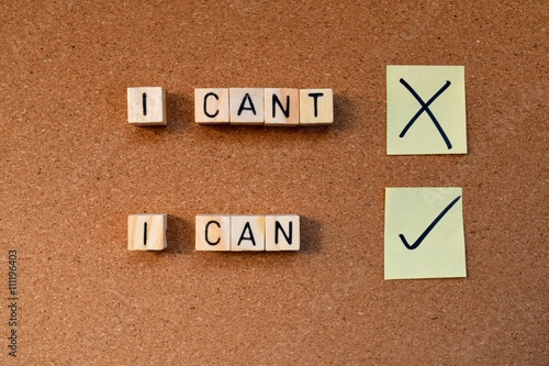 Poster motivational concept- I can