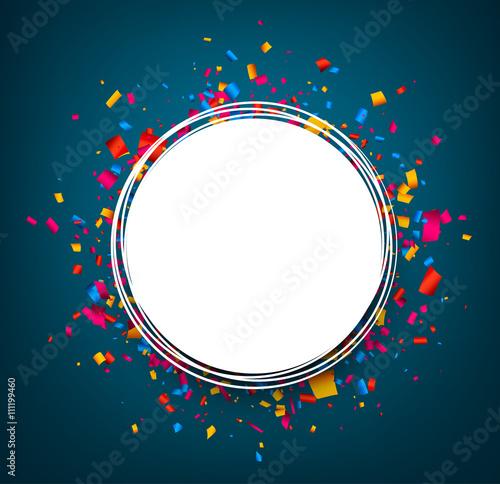 Round festive blue background.