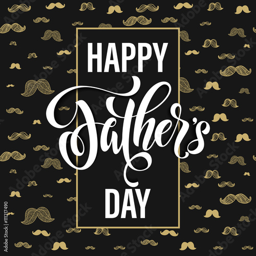 Father's Day greeting card title. Poster