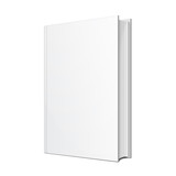 Fototapety Blank Hardcover Book Illustration Isolated On White Background. Mock Up Template Ready For Your Design. Vector EPS10