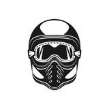 Fototapety Motorcycle helmet monochrome