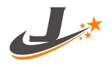 Star Swoosh Letter J