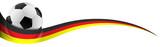 Fototapety Fußball mit Deutschland Flagge Farben