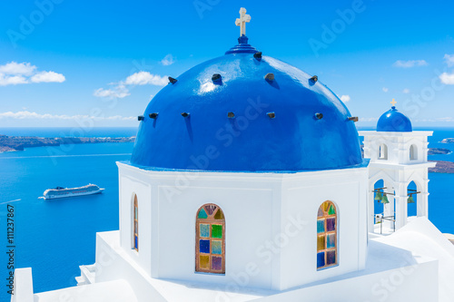 Zdjęcia na płótnie, fototapety na wymiar, obrazy na ścianę : Landscape Santorini Island, Cyclades, Greece