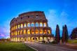 Quadro Kolosseum in Rom bei Nacht