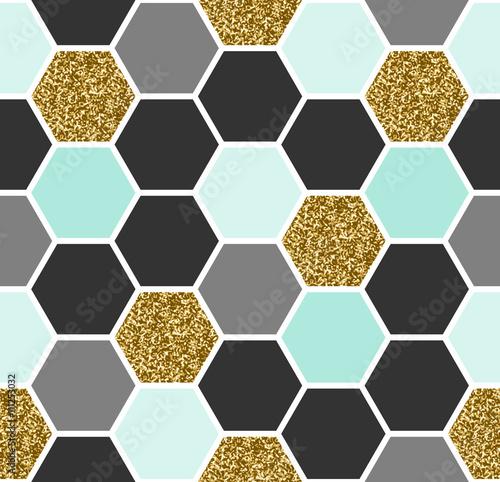 Hexagon Seamless Pattern - 111253032