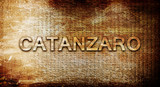 Catanzaro, 3D rendering, text on a metal background