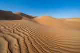 Sandtunes in Liwa desert, in Aby Dhabi, UAE, at sunrise