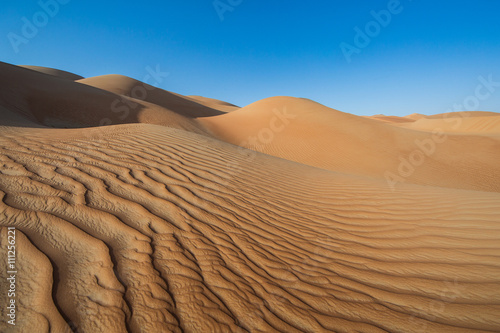 Sandtunes in Liwa desert, in Aby Dhabi, UAE, at sunrise