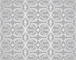 Seamless silver flowers and foliage wallpaper